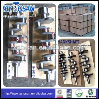 Crankshaft for Komatsu 4D105-5 engine (OEM 6134-31-1110 6136-32-1110)