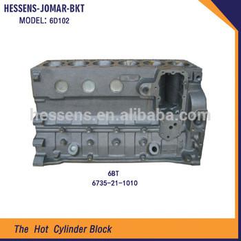 6D102 Excavator engine cylinder block for komatsu