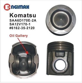 Cast Iron piston For Komatsu Engine