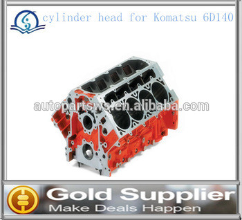 Brand New cylinder head for Komatsu 6D140 with high quality and most competitive price.