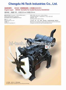 ENGINE FOR KOMATSU SAA6D102