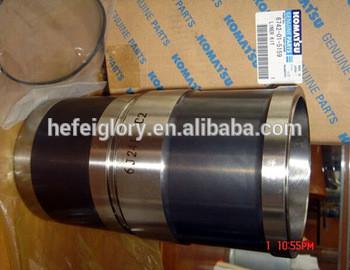 Komatsu engine 6D130 cylinder liner 6115-21-2211, cylinder sleeve, cylinder slave