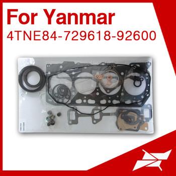 4TNE84 overhaul gasket kit set for yanmar generator for komatsu mini excavator engine parts