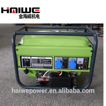 Hot sale China factory air-cooled gasoline generator set 2kva, 7.5hp gasoline generator for sale