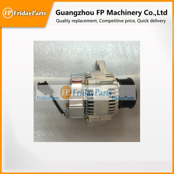 HOT selling Diesel engine parts for Komatsu 24V,40A, alternator 6D102