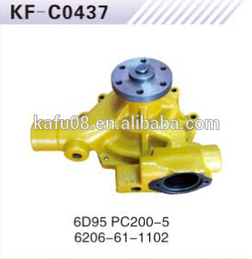 PC200-5 6D95 Excavator Water Pump 6206-61-1102