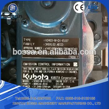 Kubota used engine for Japanese engine V3300,V3800,V2403,D1703,D1803,V1505,D905,V1305,D1105,D1005