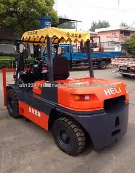 high quality new price 5ton Heli cpcd50 forklift for sale in shanghai yard
