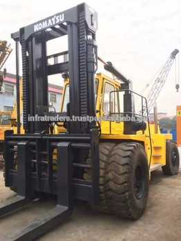 Good working condition old/used 40 ton Komatsu forklift FD400,Used forklift Komatsu 40 ton, Original from Japan,very cheap price