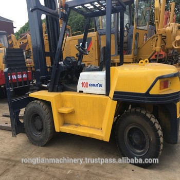 Used Komatsu forklift 10ton FD100T-7, used diesel 10 ton forklift truck Komatsu FD100T-7 for sale