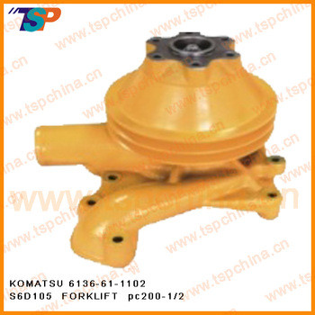 KOMATSU excavator water pump for engine part 6136-61-1102