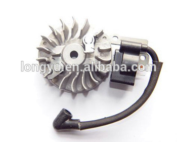 High quality KOMATSU grass trimmer magneto flywheel and ignition coil for 1E34FLC engine
