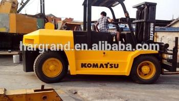 used Komats forklift japan diesel forklift FD100 10t for sale in China