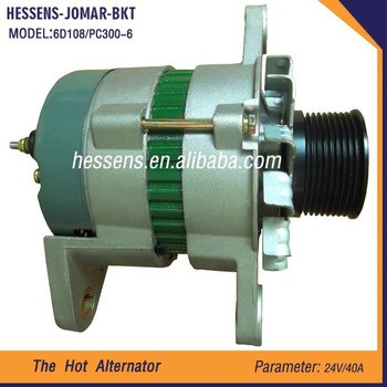 Hot Sale Low Price Engine Parts Alternator for 6D108 PC300-6