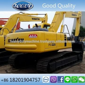 No oil leak good quality cheap used PC220-6 excavator for philippines