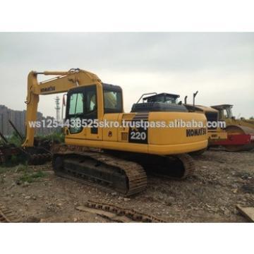 High Quality Used Komatsu PC220 crawler excavator for sale/Nice original engine