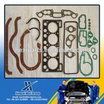 China manufacturer cylinder full gasket kit/overhaul gasket kit for excavator engine parts PC200-5 6D95