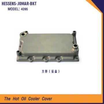 4D95 Engine square oil cooler cover for komatsu
