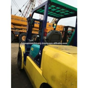 Used Japan forklift komatu 5 ton for sale , FD50T-16 , Diesel Engine