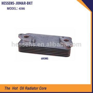 4D95 6P Excavator engine oil cooler assy for komatsu