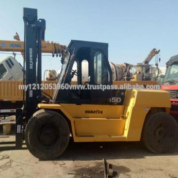 used 15 ton Komatsu FD150 folklift, used forklift 15ton, Komatsu FD150