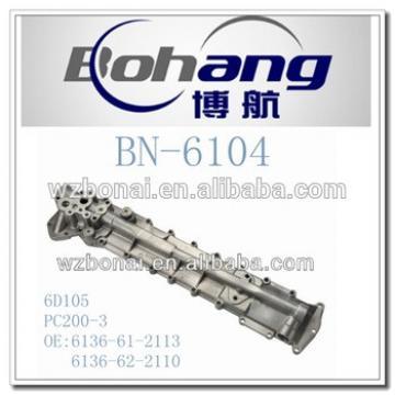 Bonai Engine Spare Part KO-MATSU 6D105 PC200-3 Oil Cooler Cover(6136-61-2113/6136-62-2110)