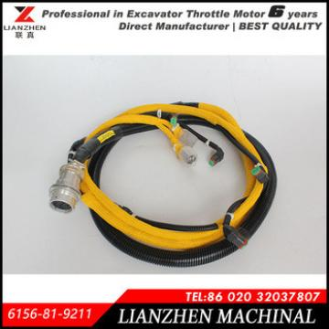 Excavator PC400-7 engine fuel injector wiring harness for Komatsu 6156-81-9211
